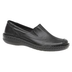 HAK1601 Leather Flats in Black