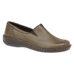 HAK1601 Leather Casual Shoes in Khaki, Tan