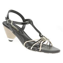 BRIO1702 Sandals in Black, Coral, Gold