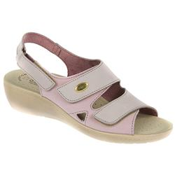 Fran Leather Sandals in Lilac Multi
