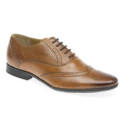 YORK1715 Leather Lace Up in Black, Tan