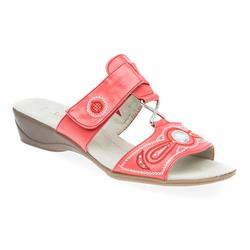 JANA27164-30 Textile Lining Sandals in Black, Red, White