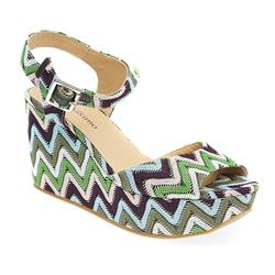 BEL17006 Textile Upper Leather Lining Sandals in Multi