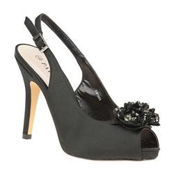 EW1605 Textile Upper Sandals in Black Satin