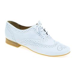STBOT1605 Leather Upper in Baby Blue, Black, Cream, Peach