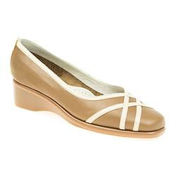 CINFLY1704 Leather Casual Shoes in Navy-Beige, Taupe-Beige