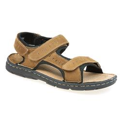 hsshi1705 Leather Upper Leather/Textile Lining Sandals in Camel, Grey
