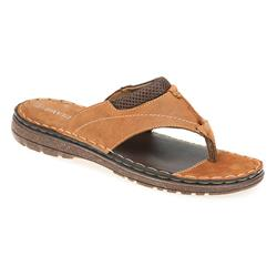 SHI1709 Leather Upper Leather/Other Lining Sandals in Tan
