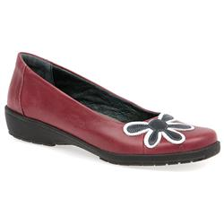 CALFLY1404 Leather Comfort Small Sizes in Black Patent, Denim, Pearl, Red