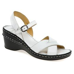 HSKA1310 Leather Sandals in White