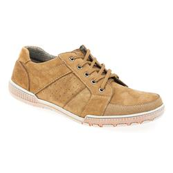 SHI1700 Leather Upper Textile Lining Lace Up in Navy, Tan