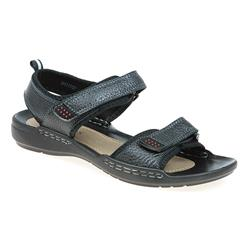 shi1707 Leather Upper Textile/Other Lining Sandals in Black