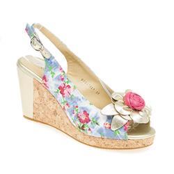 BEL17017 Leather/Textile Upper Sandals in Floral