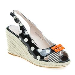 BEL17005 Leather Upper Sandals in Beige Multi, Black