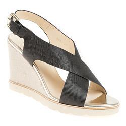 BEL17015 Leather Sandals in Black, Cream