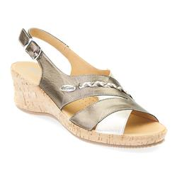 MENE1702 Leather Sandals in Cream -Gold, Pewter, Red-White-Navy