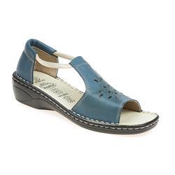 HSHAK1705 Leather Sandals in Denim-Blue, Red, White