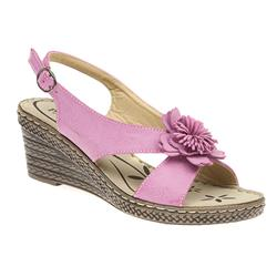GD1702 Sandals in Black, Fuchsia
