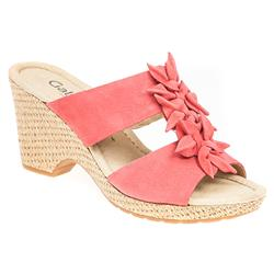 G17-62774 Leather Sandals in Red, Taupe, White