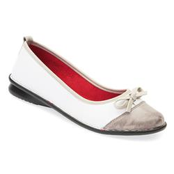 KARY1701 Leather Upper in White Multi