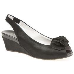 BEL13004 Leather Sandals in Black Shimmer, Silver