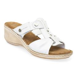 PARK1701 Leather Sandals in Brown, White