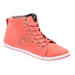 KIDD1701 Textile Lining Boots in Coral