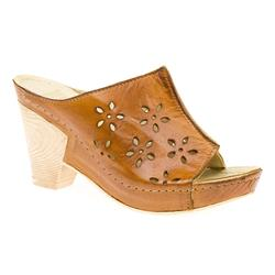KARY1502 Leather Sandals in Tan