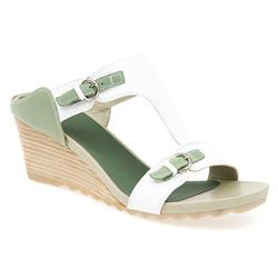 BEL13014 Leather Upper Sandals in White