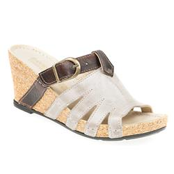 KARY1703 Leather Sandals in Silver Multi