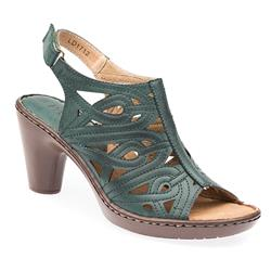 LD1712 Leather Lining Sandals in Teal