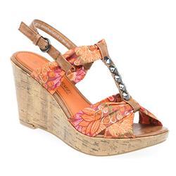 WEN28032-20 Textile Lining Sandals in Orange