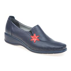 DEM1700 Leather Upper Casual Shoes in Navy-Red