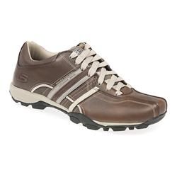 SKE1316 Leather/Other Upper Textile Lining Comfort Large Sizes in Brown, Grey