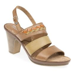 EF1703 Leather Sandals in Taupe-Green