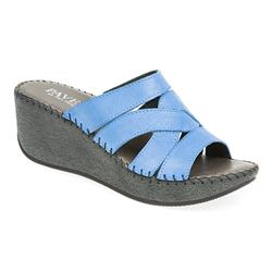 HSIT1701 Leather Sandals in Fushcia, Light Blue, White