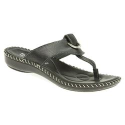 HSIT1704 Leather Sandals in Black, White