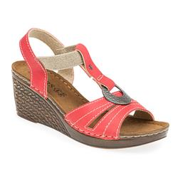 IN1714 Leather Lining Sandals in Beige, Red