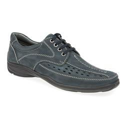 HSPARK1709 Leather Lace Up in Navy, Tan