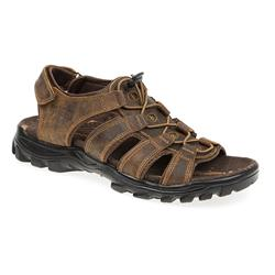 RF1700 Leather Upper Sandals in Black, Tan