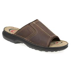 KEMP1701 Leather Upper Sandals in Brown