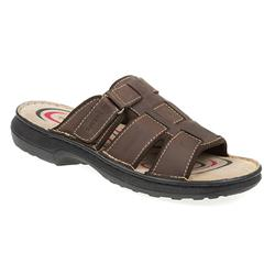 KEMP1702 Leather Upper Sandals in Brown