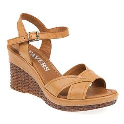 ZYN1702 Leather Sandals in Tan, White