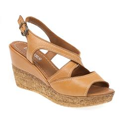 ZYN1706 Leather Sandals in Tan, White