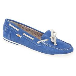 AD1701 Leather Flats in Blue