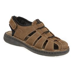 HSPARK1711 Leather Sandals in Brown, Navy