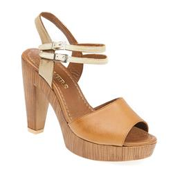 ZYN1705 Leather Sandals in Tan-Multi