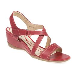 HSPN1701 Leather Upper Leather/Other Lining Sandals in Black, Red, White