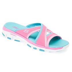 HSSKE1706 Textile/Other Upper Sandals in Black-White, Pink-Turquoise