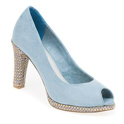 WEN29310-20 Textile Upper Textile/Other Lining High Heels in Blue, Taupe